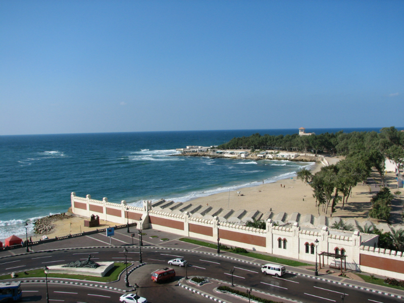 Beach-view-at Alexandria-in-Egypt