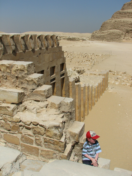 At-Step-Pyramid-complex-at-Saqqara-Egypt.