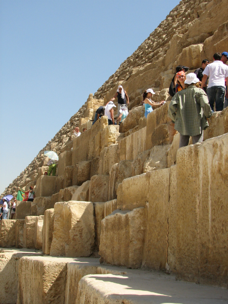 on-the-great-pyramid-at-Giza-Cairo-Egypt