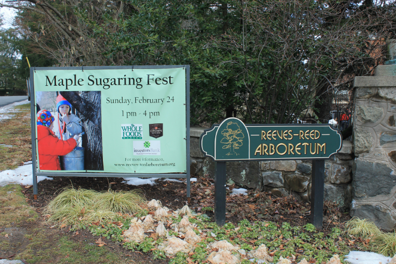 Maple sugaring event at Reeves-Reed Arboretum in Summit NJ