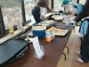 Pancakes are a neccessity to go with the maple syrup at the maple sugaring event at Reeves-Reed Arboretum in Summit NJ
