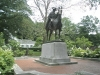 At-historic-Morristown-near statue-of-George-Washington