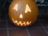 The finished Halloween Jack-O-Lantern: very scary indeed.