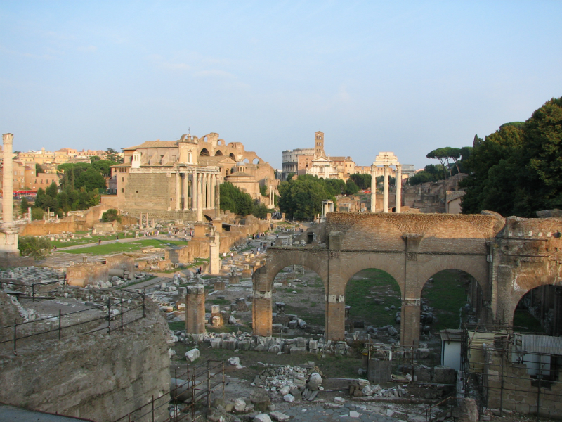 on-the-way-to-the-forum-Rome