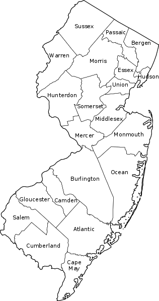 Choosing A New Home Town In NJ - New jersey towns map