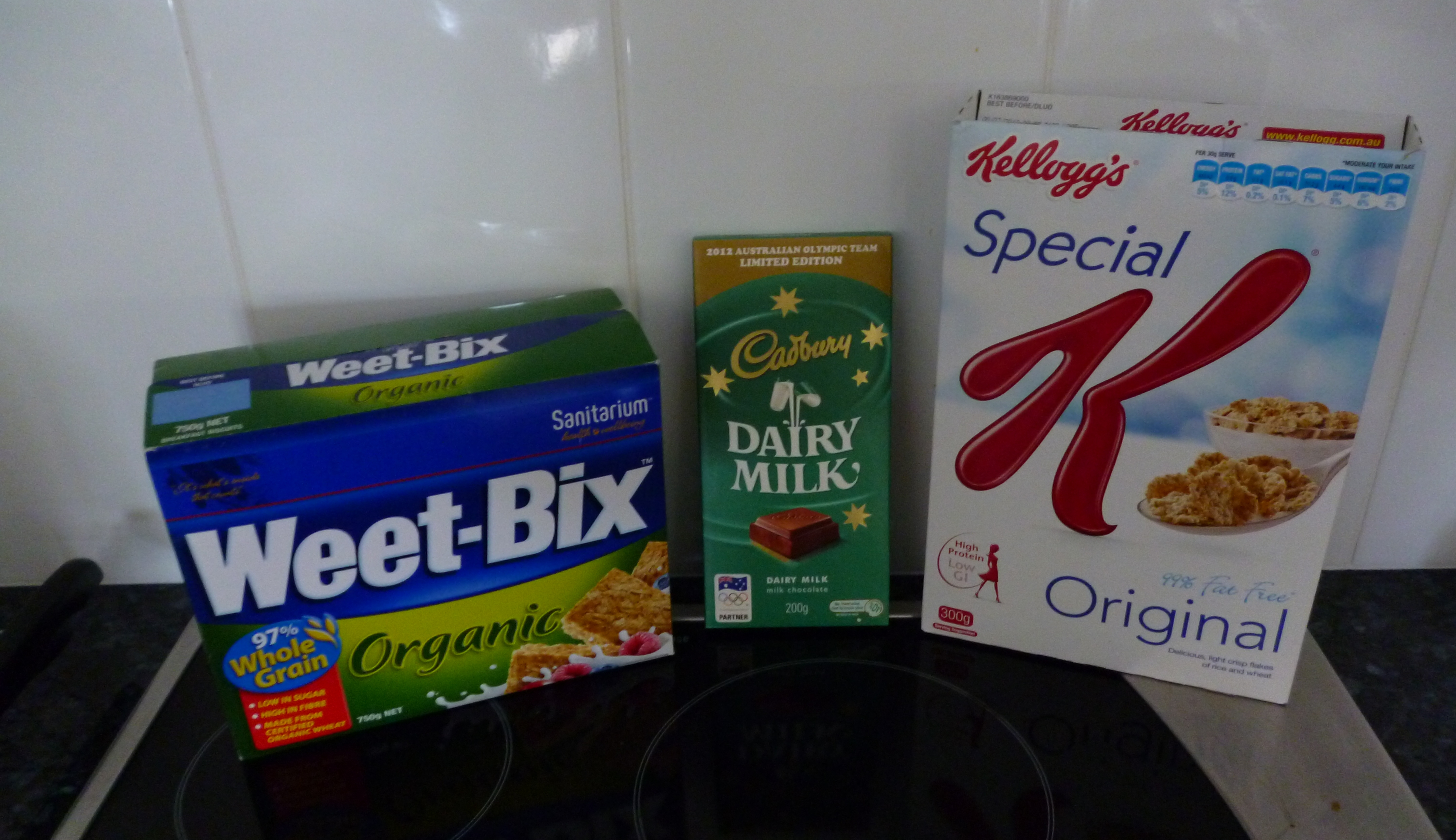 Favourite Australian foods such as Weetbix Cadbury's and Special K