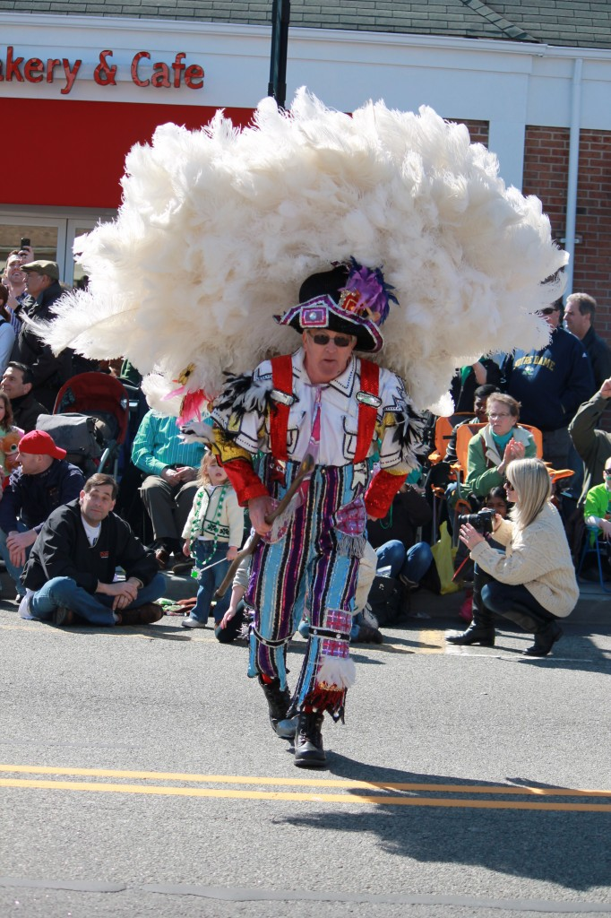 Denville-String-Band-member-dancing-in-St-Patricks-Day-parade-nj