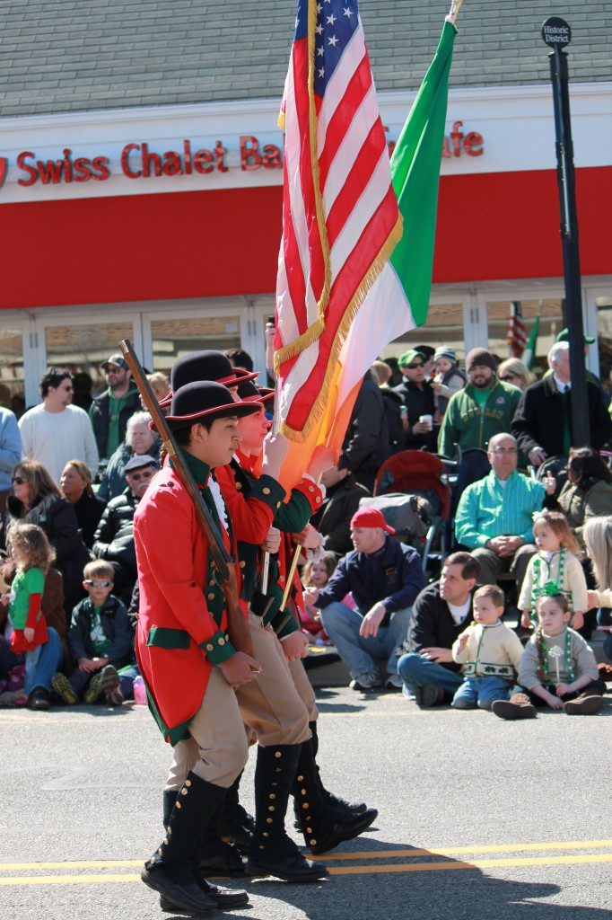 colonial-marchers-at -st-patricks-day-parade-new-jersey