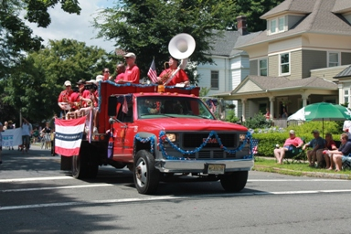 Local-community-band-in-4th-July-parade-Montclair-NJ