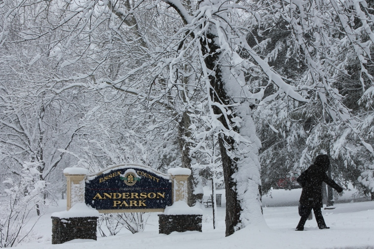 Montclair Anderson Pk during snowstorm