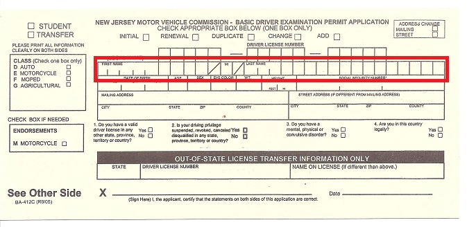 Permit-application-form-for-getting-your-NJ-Driver-license
