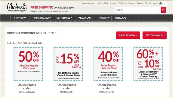 Michaels-online-coupons-www.michaels.com