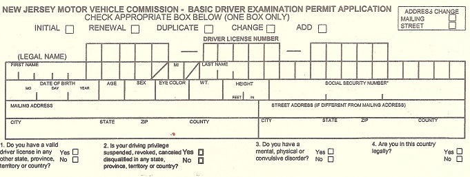 NJ-driver-permit-application-when-is-a-social-security-number-required-in-the-USA
