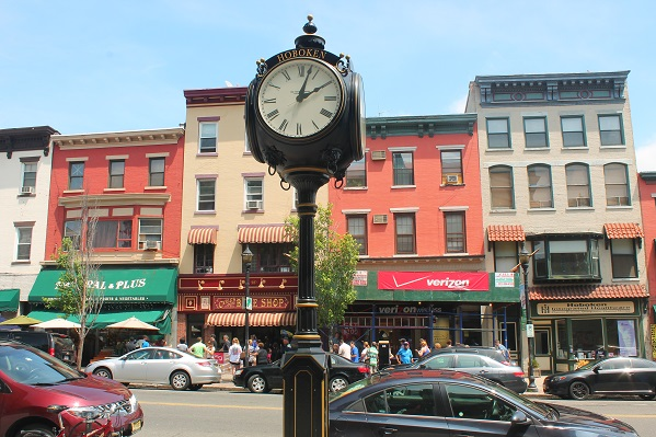 Hoboken-Municipal-clock across-from-Carlos-Bake-Shop-Washington-St-Hoboken-NJ