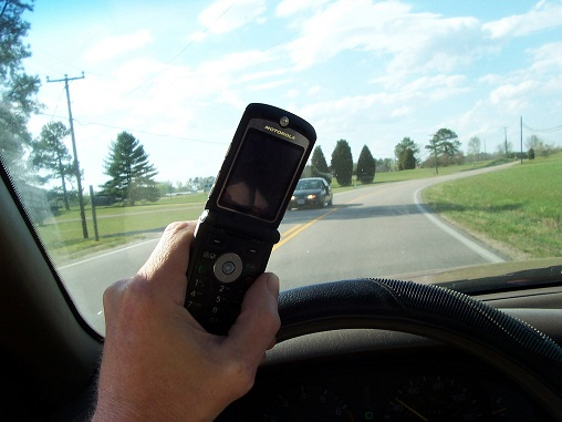 Using cell phone while driving