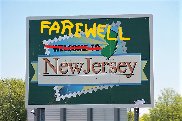 Leaving new Jersey