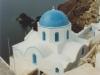 santorini-blue-church-at-sunset