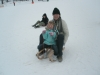 Expat-Aussie-and-daughter-trying-sledding-at-Kranjska-Gora-Slovenia