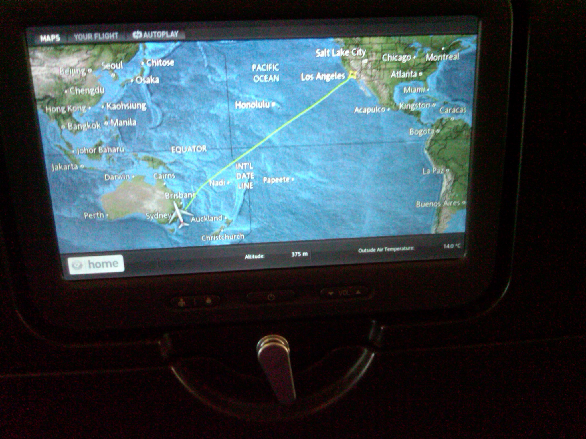 Flight to Sydney from USA