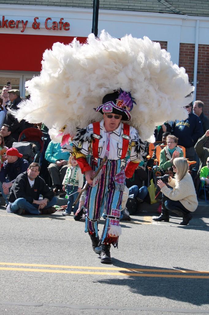 Denville-String-Band-member-dancing-in-St-Patricks-Day-parade-nj