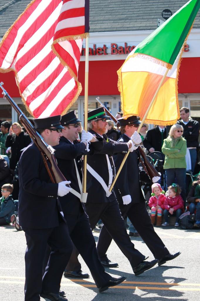 Irish-police-marchers-at-St-Patricks-day-parade
