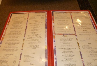 Diner-menu-New-Jersey