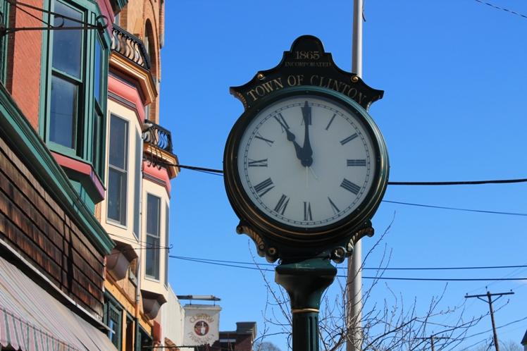 Clinton town clock