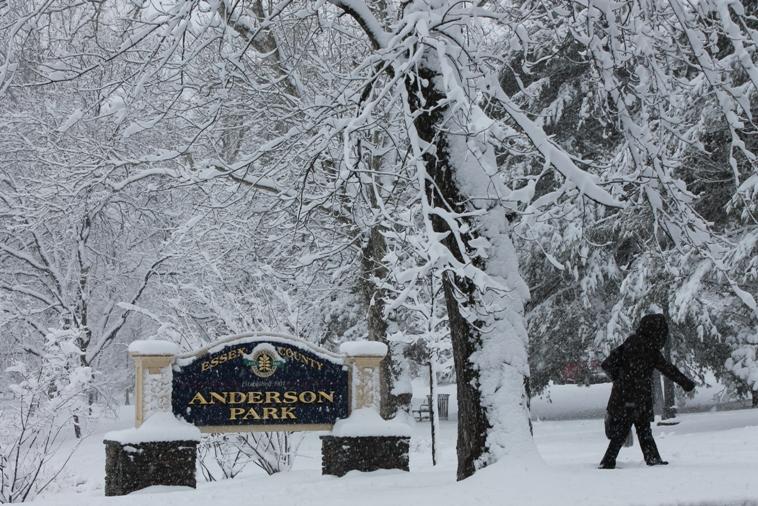 Montclair Anderson Pk during snowstorm
