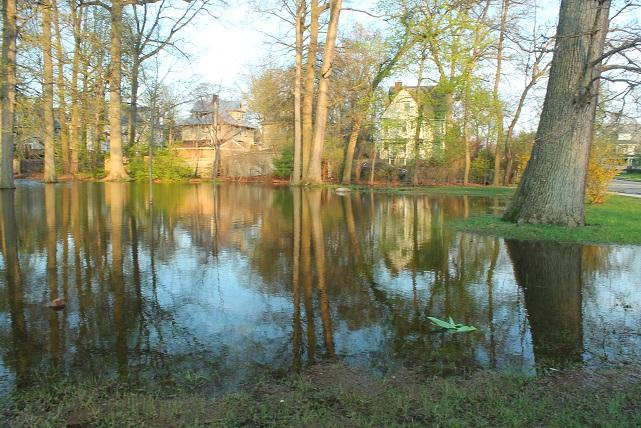 Montclair-park- flooded-by-rain-storm-NJ