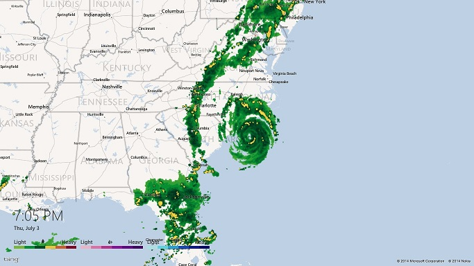 tropical-storm-Arthur-July-2014