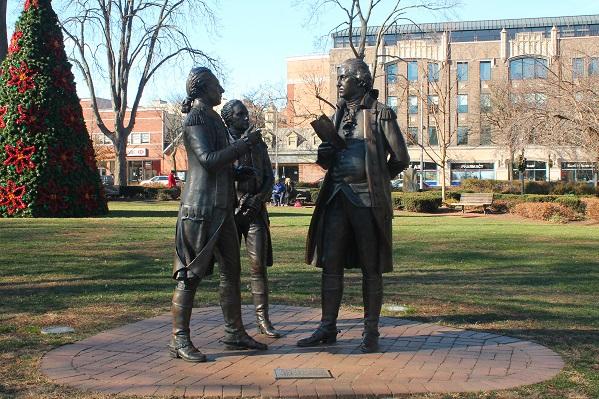Lafayette-with-Hamilton-and-Washington-Morristown-Green