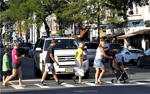 pedestrian crossing NJ